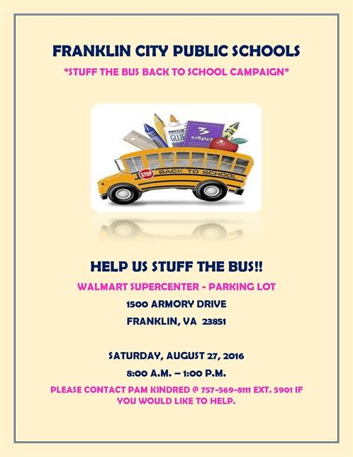 Franklin City Public Schools - Help Us Stuff The Bus - August 27 2016 (2)